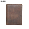 Retro genuine leather card holder men wallet