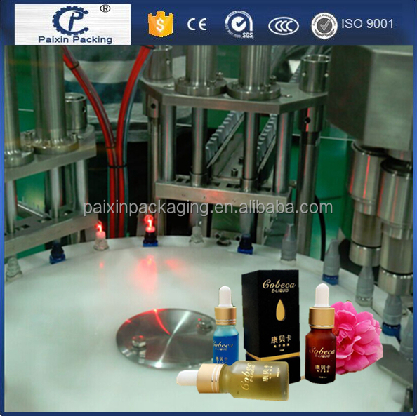 PLC control free shipping e cigarette bottle fruit juice packaging machine