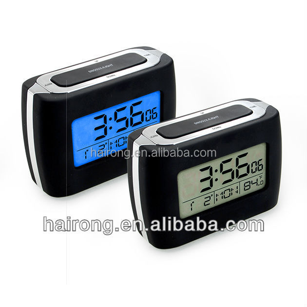 Hairong alarm clock DCF radio controlled digital clock, radio controlled desk clock
