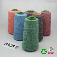 Wholesale regenerated recycled open end OE cotton blended yarn for knitting socks