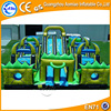 green color commercial inflatable obstacle course,inflatable obstacles races,interactive inflatables for sale