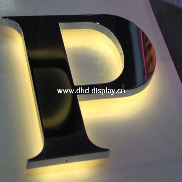 laser cut stainless steel mirror letter