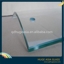 4mm Tempered Glass for Commercial Buildings with CE & ISO Certificate
