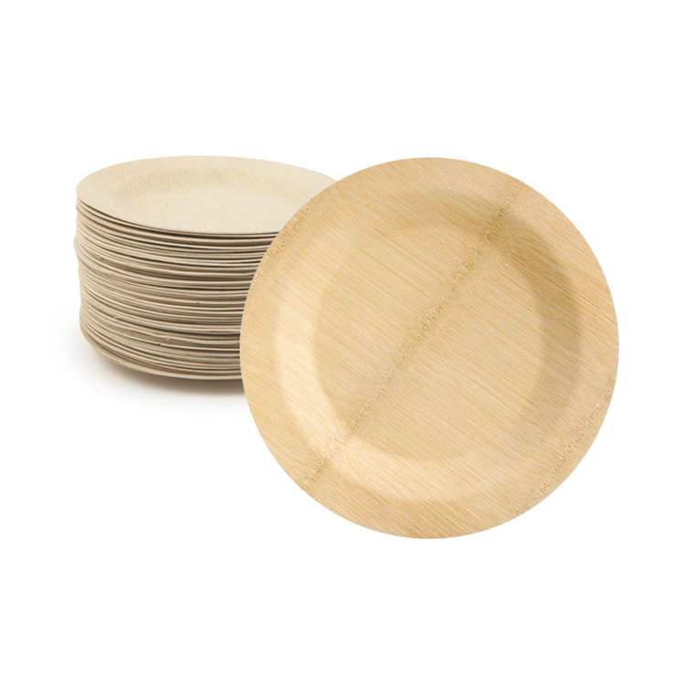 <strong>natural</strong> eco friendly round square pizza cheese cake snack sushi food melamine powder bamboo reusable serving tray plate plates