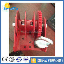 Hot sale 2000lbs worm gear hand winch with cable