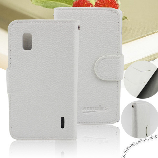 Litchi Texture Horizontal Flip Leather Case with Credit Card Slot & Holder for LG E970
