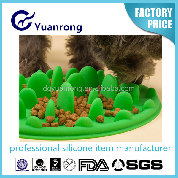 2015 New Silicone Dog Bowl for Slow Feeding