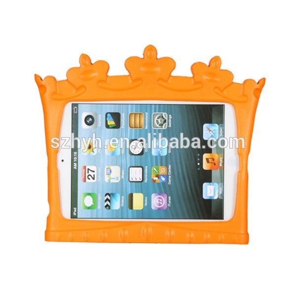 portable silicone stand crown shape rubber case EVA tablet pc cover EVA foam tablet case for ipad mini