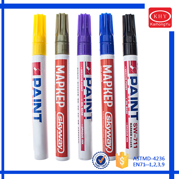 Promotional Aluminum Barrel Liquid Waterproof Permanent Marker