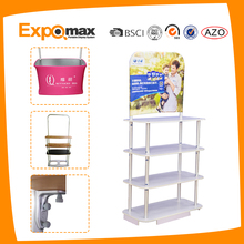 double sides slatwall display stand for showroom/exhibition booth/market