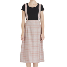 china supplier wholesale 2017 latest lattice grid sling long strap skirt