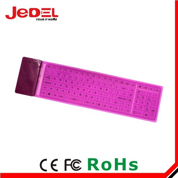 Hot Selling Multimedia Soft Silicon Folding Keyboard