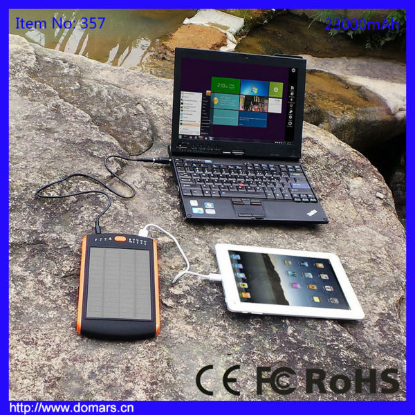 Hot Search 23000mAh Solar Laptop Charger Portable Mobile Solar Power Bank