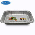 Top grade aluminum foil container takeaway small square pan