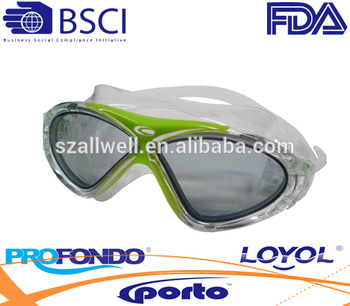 Fashion Aqua sport swimming goggle with antifog lens