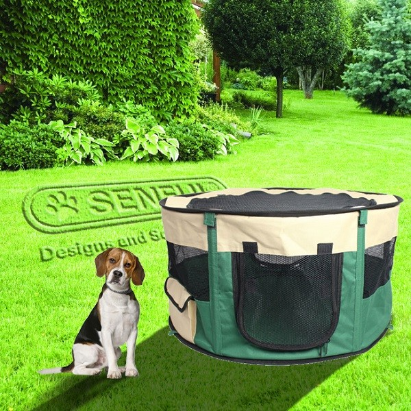 folding soft dog playpen