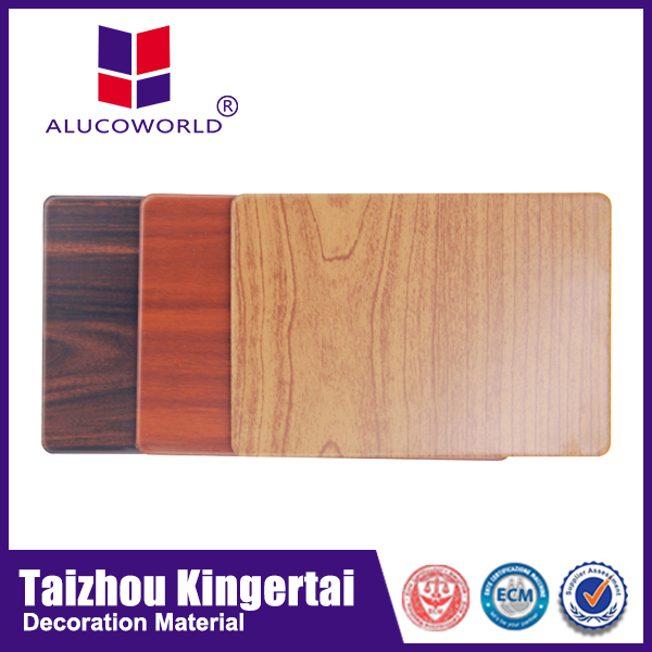 Alucoworld light weight external aluminum plastic composite panel wall cladding wood effect