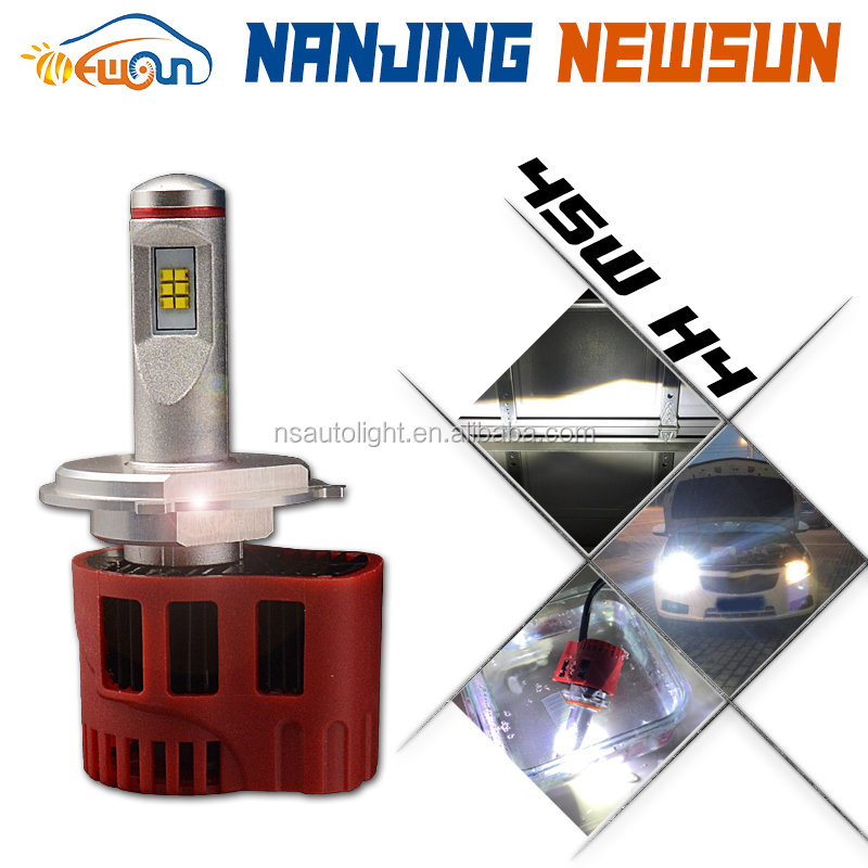 Newsun new arrival super bright h4 90w P6 car lights auto led headlight bulb 9000 lumen