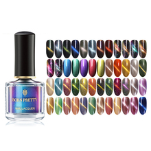 BORN PRETTY 90 Colors 6ml Black Base Needed Nail Designs Magnetic Cat Eye Nail Polish