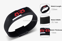 factory price fashion LED watch Silicone Wristband Watch