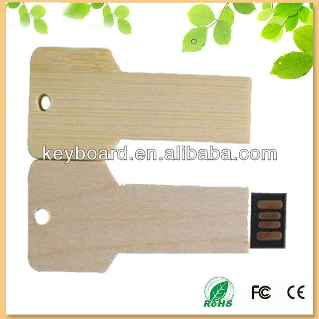 factory cheap price key wooden usb flash drive