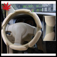 Suede Fabric Auto Steering Wheel Cover