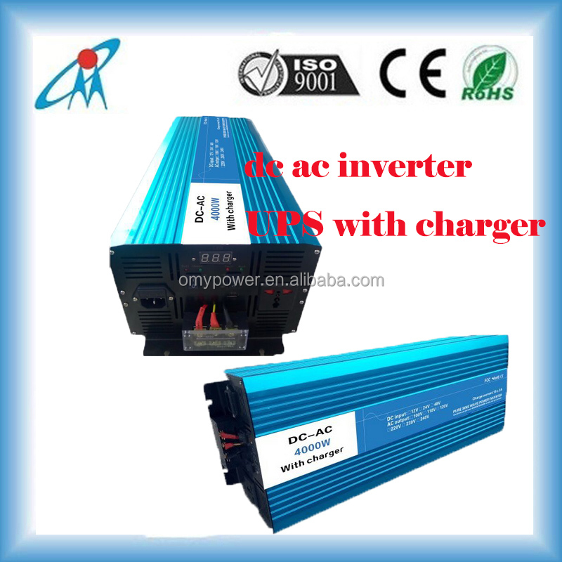 4000W 12V to 220Vac inverter pure sine wave solar inverter with battery charger UPS function inverter