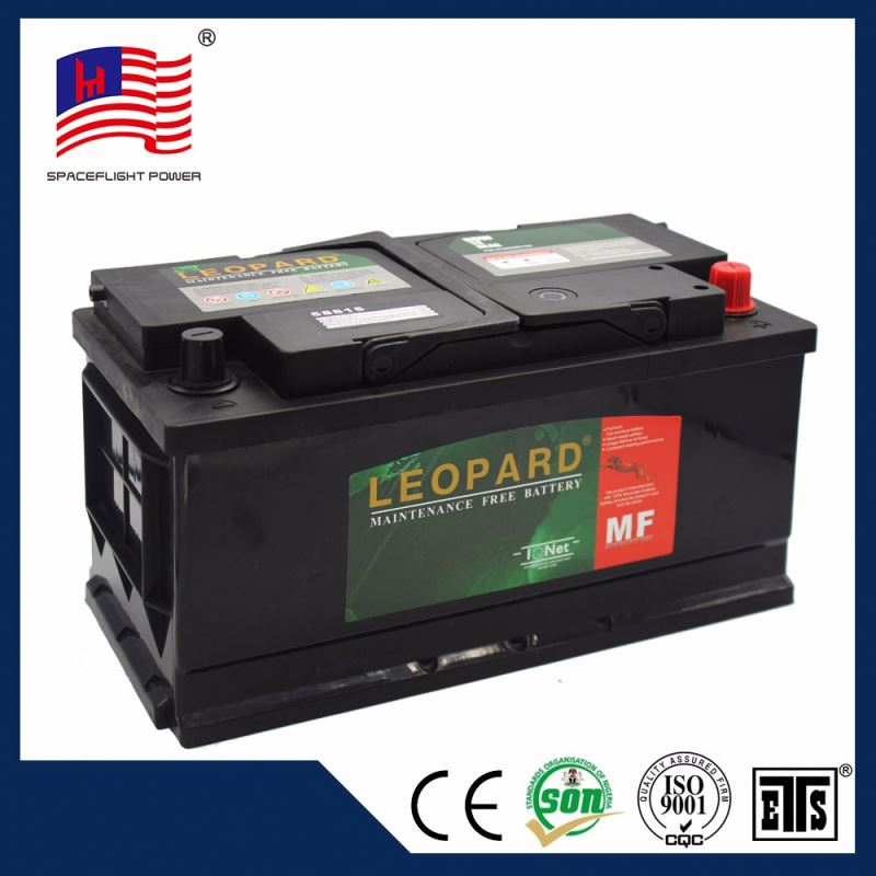 MF58815 DIN style 12V88AH Full capacity maintenance free auto battery
