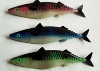2015 popular pink green blue multi colourfull pvc macherel fishing lures swordfish baits