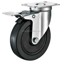 Medium Duty Casters with Rubber Wheel