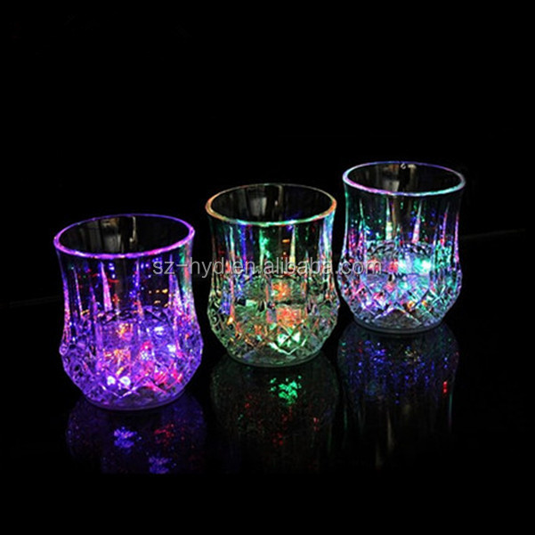 Handmade Plastic Flashing LED Glass Cup With Logo