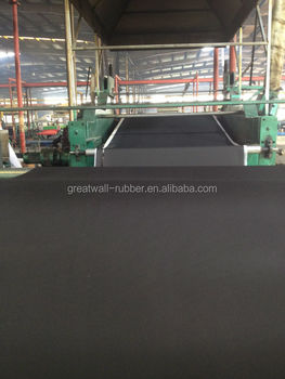 EPDM material black color waterproofing rubber sheet by estruder with both sides fabric finish surface