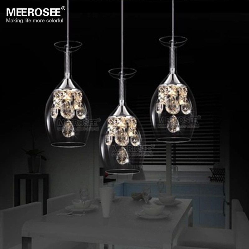 Modern Glass Kitchen Lighting Single Hanging Light Fixtures MD81735-L3