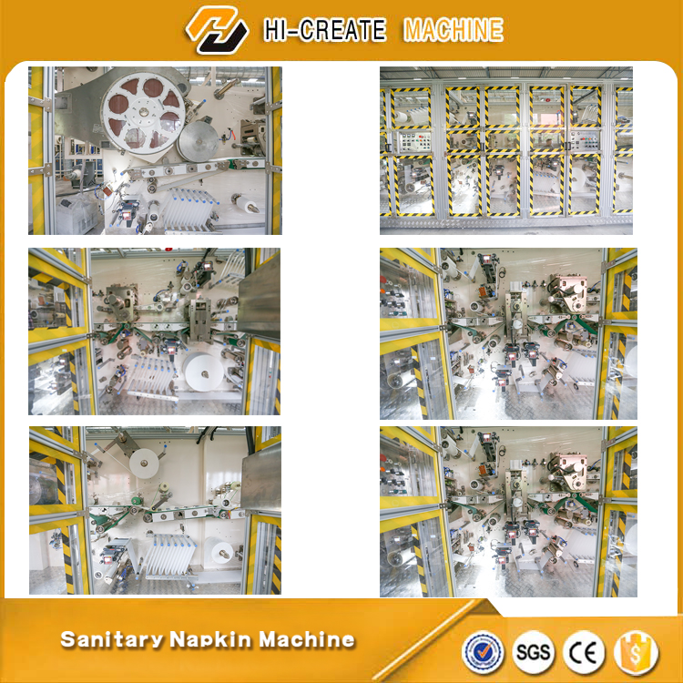 High Quality Customized sanitary napkin making machine with good after service