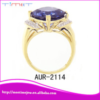 China Jewelry blue stone gold ring name designs