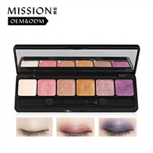 Professional purple glitter pure mineral permanent eye makeup case shadow