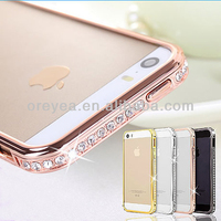 New Arrival Screwless Bling Crystal Diamond Bumper Metal Case For Iphone 5, For iphone5s 4s diamond phone bumper case