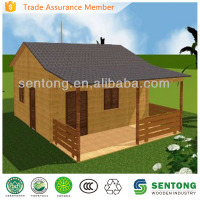 high standard prefabricated living wooden house/villa