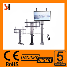 Shenghua electric tv lifting system mechanism stand adjustable height 2 sections