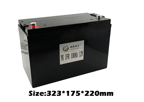 Rechargeable 12V 100Ah LiFePO4 Battery Pack for Solar Power System