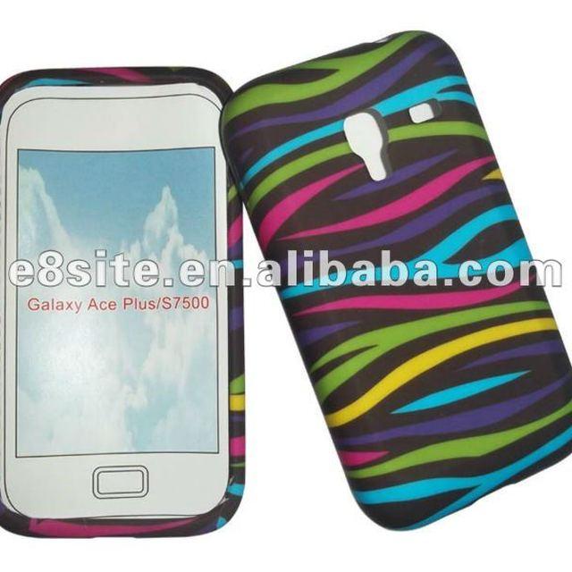 Rainbow Zebra Design TPU Case For SamSung S7500 Galaxy Ace Plus