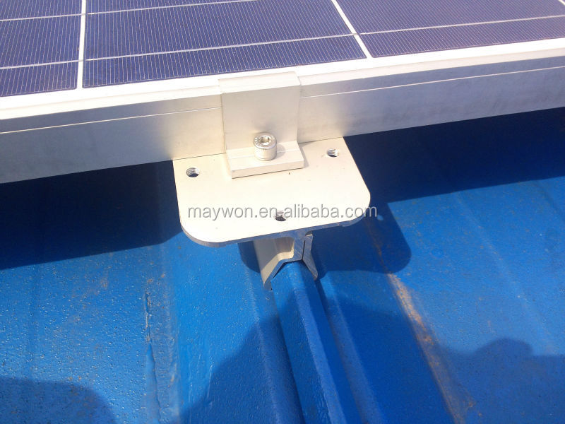 Color steel tile roof solar mounting bracket system