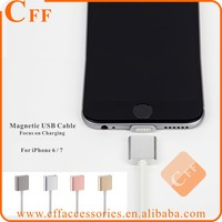 Strong Adsorption Magnet Magetic Cable USB Charging for iPhone 6 7 with LED Smart Light