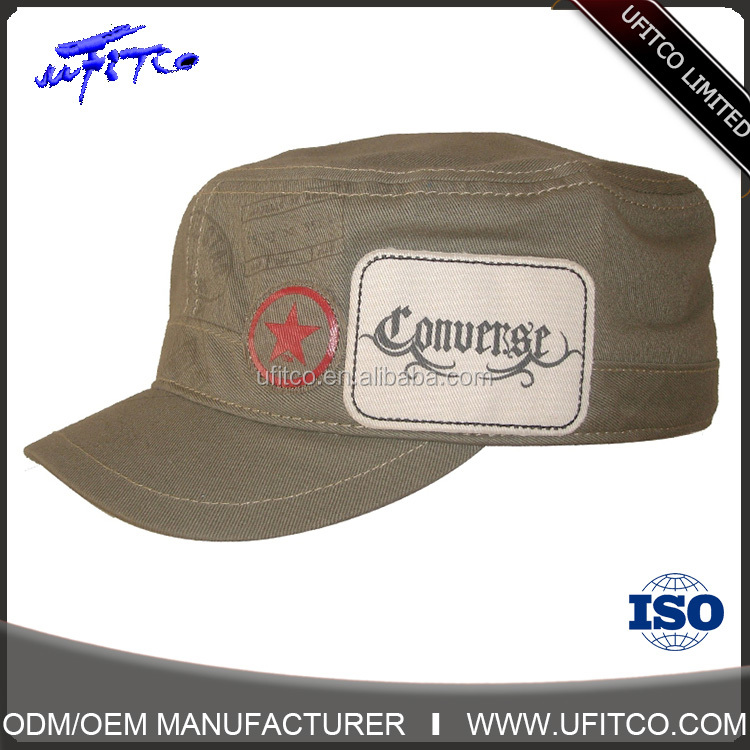 Fashion and popular promotional military cap hot selling products in china