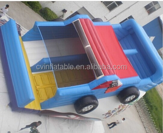 inflatable outdoor giant dry slide/ bouncer slide / inflatable racing car slide