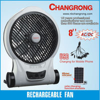 "rechargeable emergency 8"" box fan"