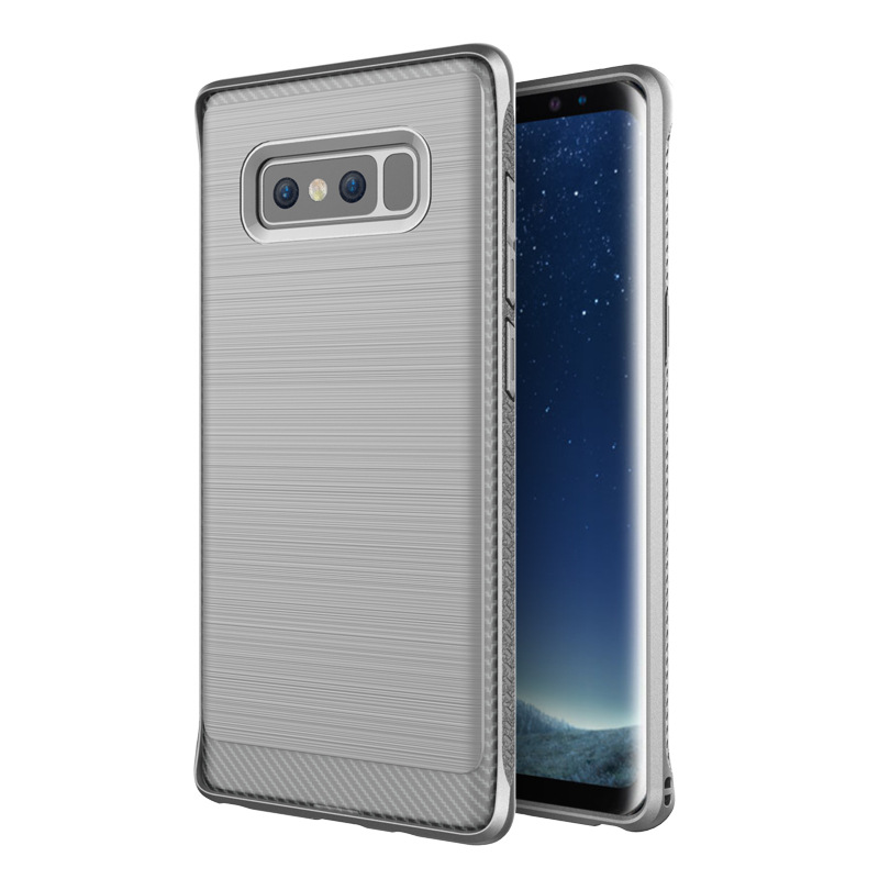 Shockproof TPU back cover case for samsung galaxy note 8 case mobile phone