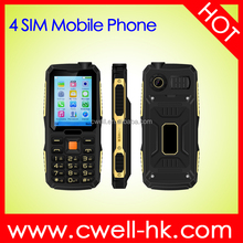 MSIM M11 2.4 Inch TFT Screen Rugged Mobile Phone 4 SIM Card 2000mAh Big Battery Powerful Torch Unlocked