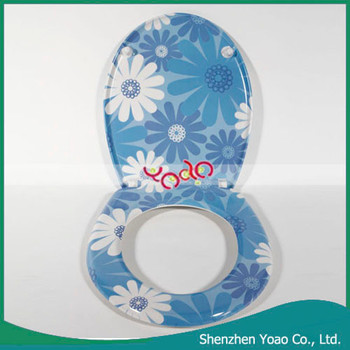 Hot Urea Formaldehyde WC and Toilet Cover Plate with Hardware Fitting