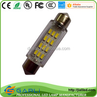 12-24v led 42mm interior lamps compartment lamp trunk lamp, LED Festoon reading lights license plate light 12SMD 3014,